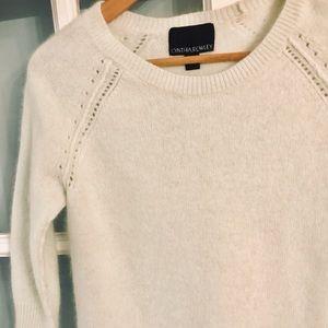 Cynthia Rowley Angora Rabbit Hair White Sweater-S
